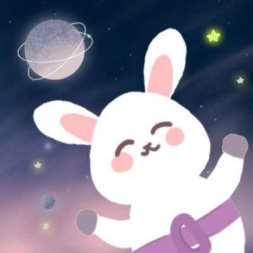梦幻太空兔子情侣头像