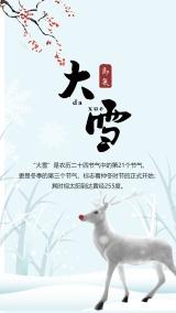 大雪习俗海报