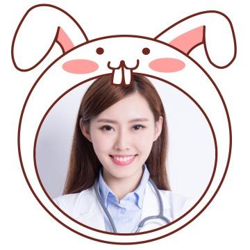 简约可爱卡通兔子萌趣挂件社交素材微信头像