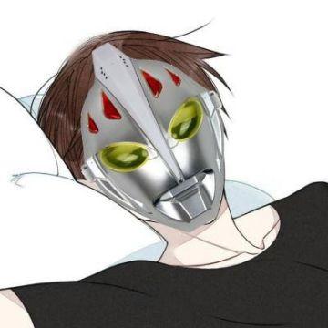 武汉加油 奥特曼防护面具  个性头像
