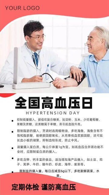 全国高血压日宣传公益海报