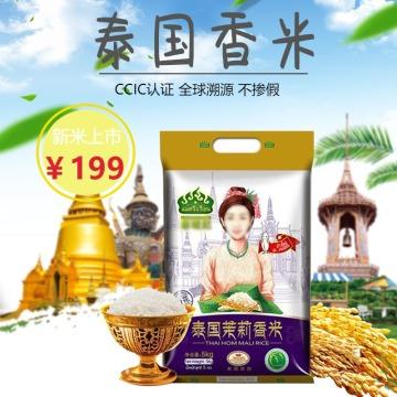 清新简约百货零售五谷杂粮泰国香米促销电商主图
