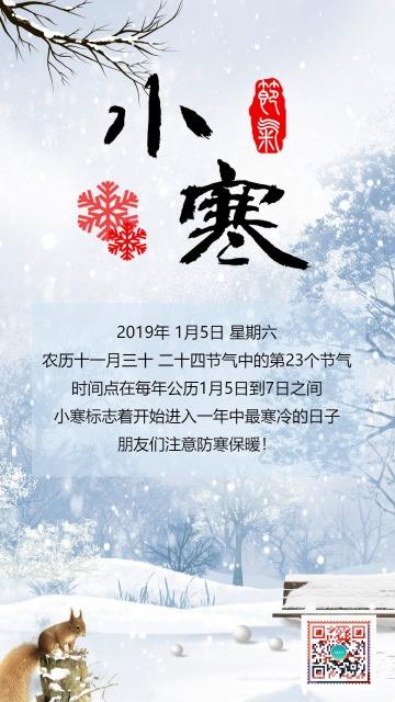 小寒海报/问候/祝福/贺卡