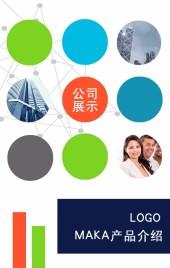商务多彩色高饱和度公司及企业介绍项目介绍企业画册产品推介模板