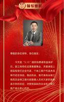 红色商务科技315国际消费者权益日公司企业宣传H5模板