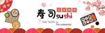 卡通可爱餐饮美食促销活动电商banner