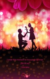 520动感浪漫璀璨意境真情告白情书