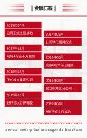 简约商务红色企业宣传册公司宣传画册H5
