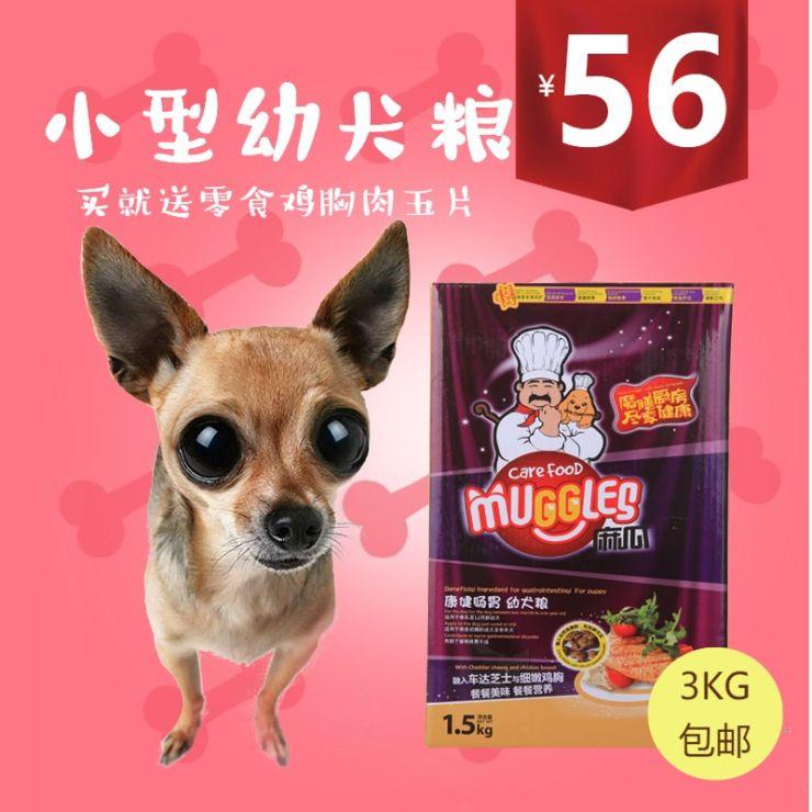 清新简约百货零售天然美味幼犬狗粮促销电商主图