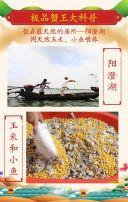 淡蓝色中国风大闸蟹宣传促销H5