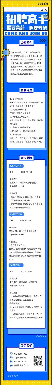 2020扁平简约蓝色互联网企业社会招聘介绍推广单页