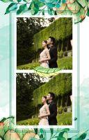 清新森林花卉婚礼邀请