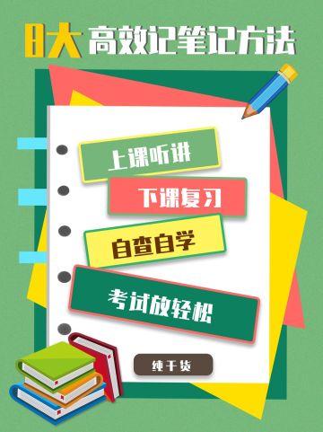 学习方法记笔攻略指南简约小红书封面