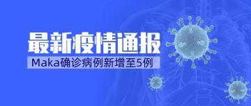 蓝色武汉最新疫情通报通知宣传海报