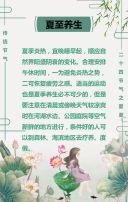 清新文艺夏至习俗宣传