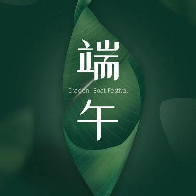 清新文艺之端午节划龙舟品类小图头像宣传模板设计