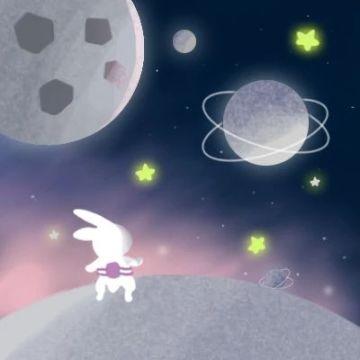 太空兔子梦幻情侣头像