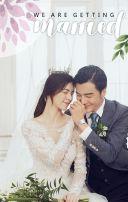 快闪白色轻奢婚礼邀请函韩式唯美梦幻水彩植物淡雅清新花朵简约婚礼请柬请帖H5
