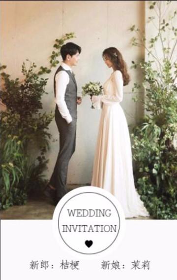 韩式简约时尚婚礼邀请函婚礼请柬喜帖