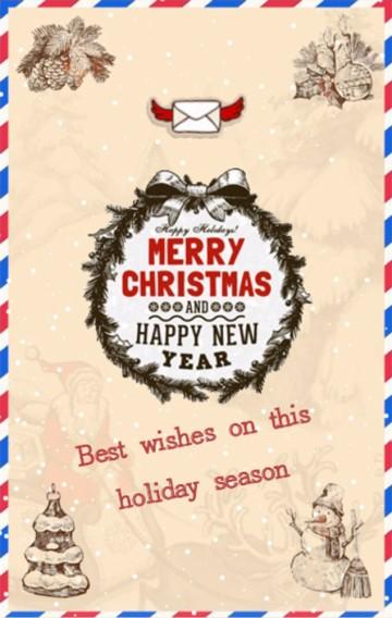 圣诞贺卡、圣诞祝福