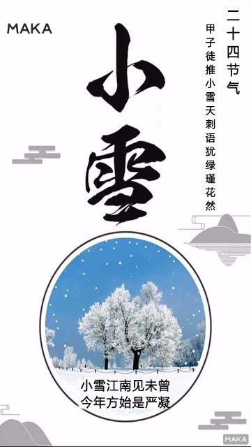 小雪 (二十四节气中的小雪)