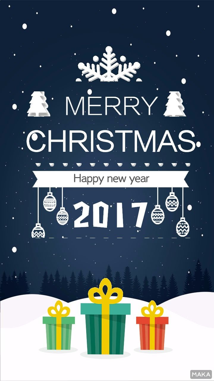 雪夜圣诞海报