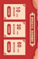 2018过年不打烊红色新年商品促销模板横屏模板