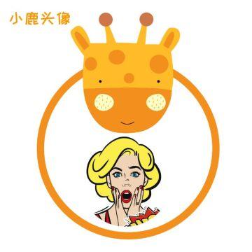 黄色可爱动物小鹿边框头像适合社交微信朋友圈封面