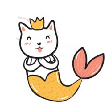 可爱卡通美人鱼猫咪微信头像