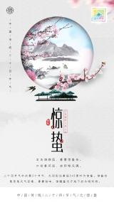 惊蛰二十四节气海报 宣传促销打折通用 二维码朋友圈贺卡创意海报手机海报