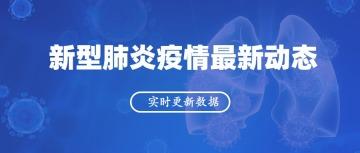 """深蓝色简约""""新型肺炎疫情最新情况"""