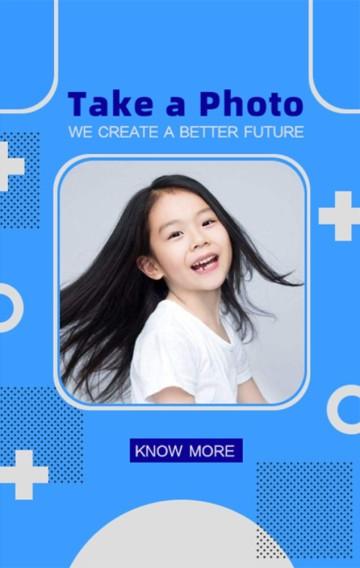 蓝色儿童摄影样片展示
