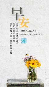 小清新自然文艺向日葵早晚安/心灵鸡汤/小清新日签/花瓶
