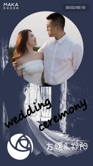 轻奢唯美浪漫婚礼邀请短视频