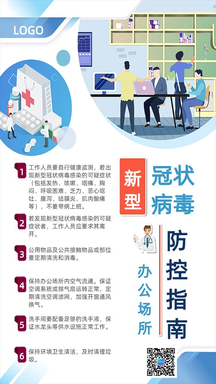 新型冠状病毒防控指南宣传海报
