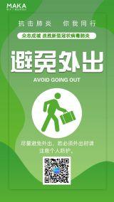健康防护避免外出冠状病毒疫情预防上班预防知识海报