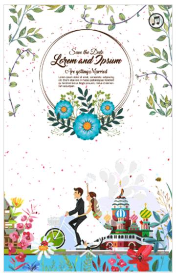 婚礼请柬、婚礼邀请函、结婚纪念册、结婚相册、动态卡通