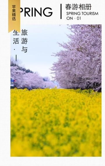 16页春季个人时尚旅游相册
