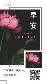 早安/日签/励志语录/心语心情正能量个人企业宣传绿色小清新文艺通用海报