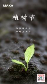 312植树节宣传海报