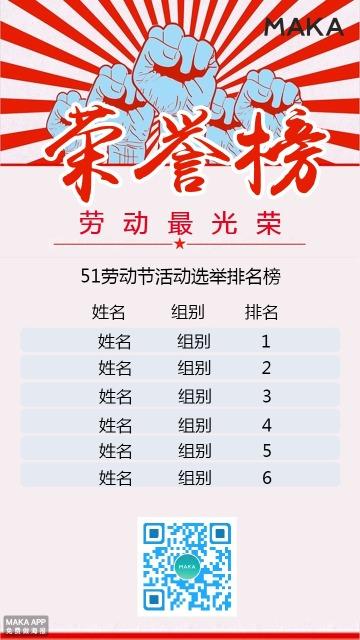 劳动节荣誉排名榜