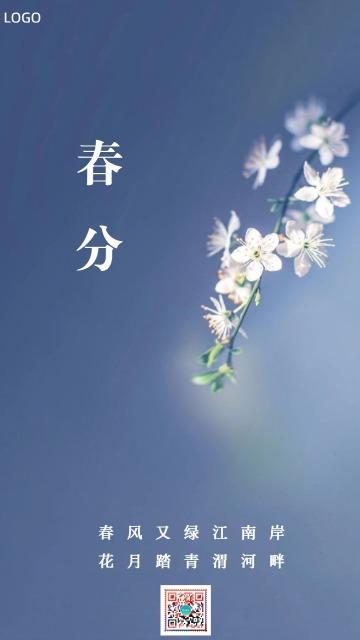 简约中国传统二十四节气春分海报