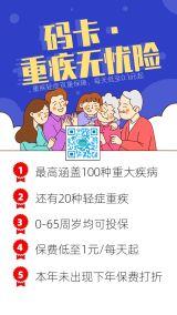 卡通风格保险产品促销宣传海报模板