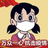 中国红助力武汉武汉加油国旗微信头像框