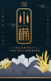 中国风24节气小满节气习俗宣传公司宣传
